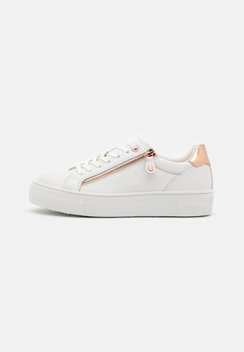 Trainers - white/rose gold
