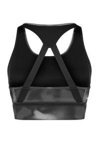 adidas Performance - Sujetadores deportivos con sujeción alta - black / white - 1