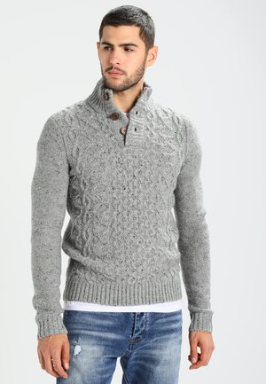 Strickpullover - mottled grey