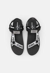 Pepe Jeans - POOL LOGO - Sandaalit nilkkaremmillä - black - 5