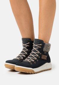 Rieker - Winter boots - pazifik/anthrazit/graphit/mogano - 0