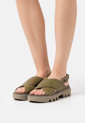 PIAVE - Platform sandals - khaki