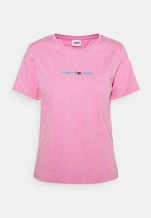 Print T-shirt - pink daisy