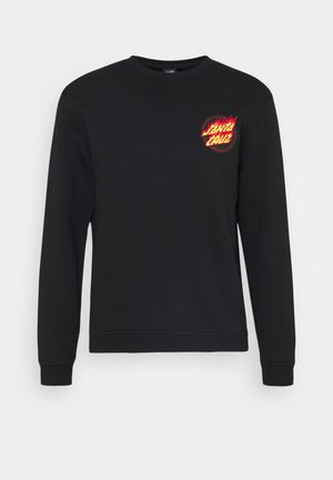 FLAMING JAPANESE DOT CREW UNISEX - Sweatshirt - black