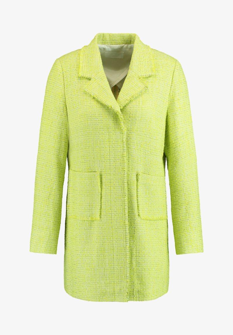 Gerry Weber - Short coat - light lime off white gemustert