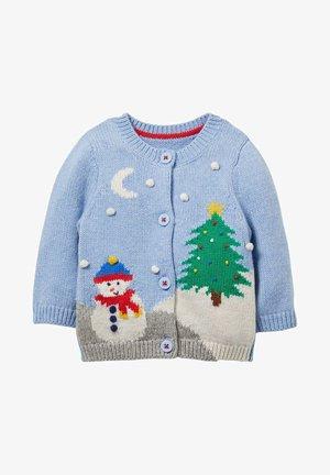 Cardigan - eisblau, weihnachtliche szene