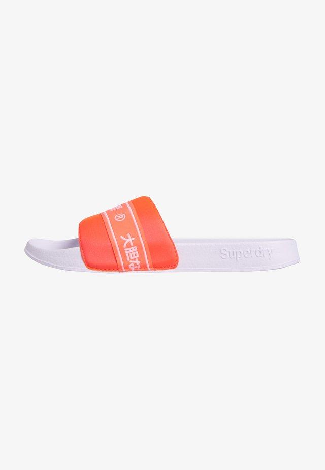 TAPE POOL SLIDERS - Pantoffels - neon red