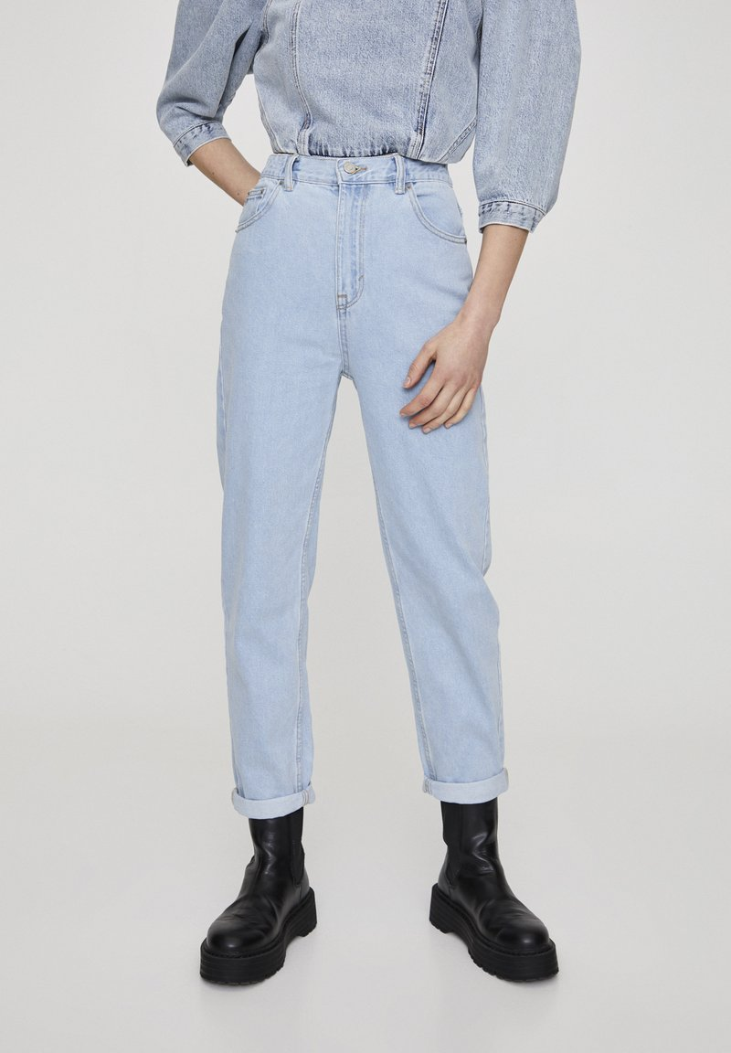 PULL&BEAR - Jeansy Straight Leg - light blue
