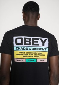 Obey Clothing - BUILT TO LAST - Printtipaita - black - 4