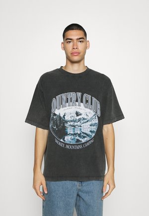 WASHED BLACK COUNTRY CLUB  - Print T-shirt - black
