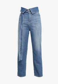 Pinko - TARAH SUPER HIGH RISE  - Straight leg jeans - blu indaco - 4