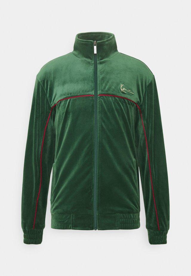 SMALL SIGNATURE TRACK JACKET UNISEX - Training jacket - darkgreen