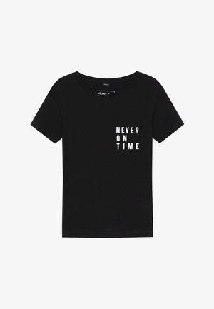 KIDS NEVER ON TIME - Triko spotiskem - black
