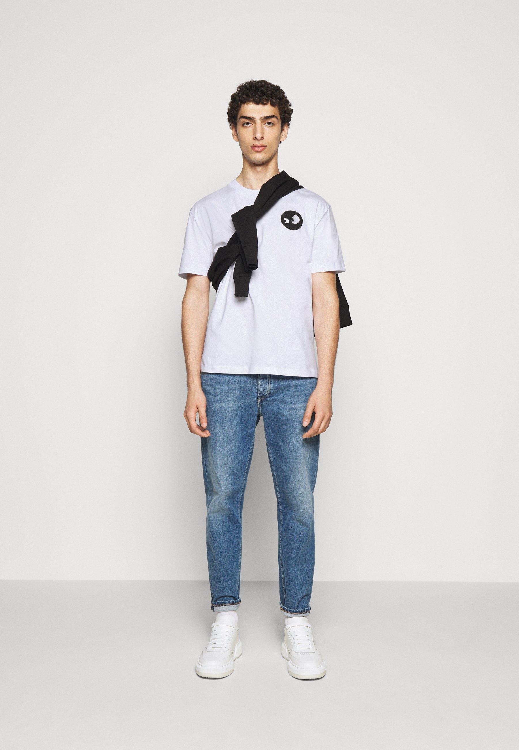 Mcq Alexander Mcqueen Dropped Shoulder - T-shirt Print Optic White
