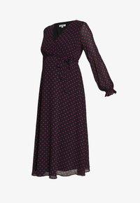 Dorothy Perkins Maternity - SPOT WRAP DRESS - Day dress - black - 4