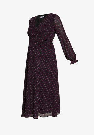 SPOT WRAP DRESS - Vestido informal - black