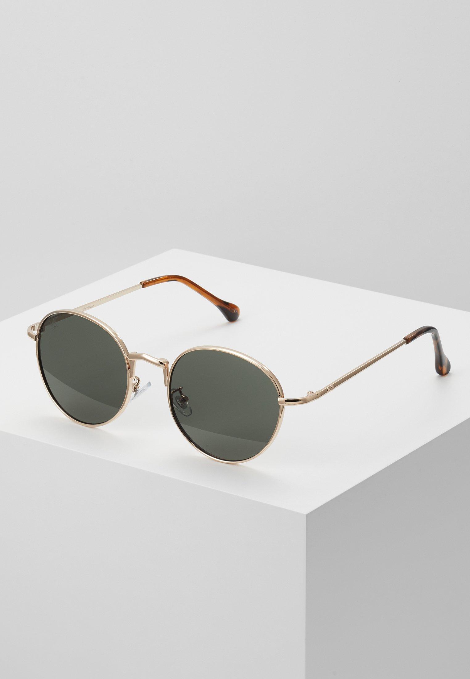 Women Sunglasses - gold-coloured/green