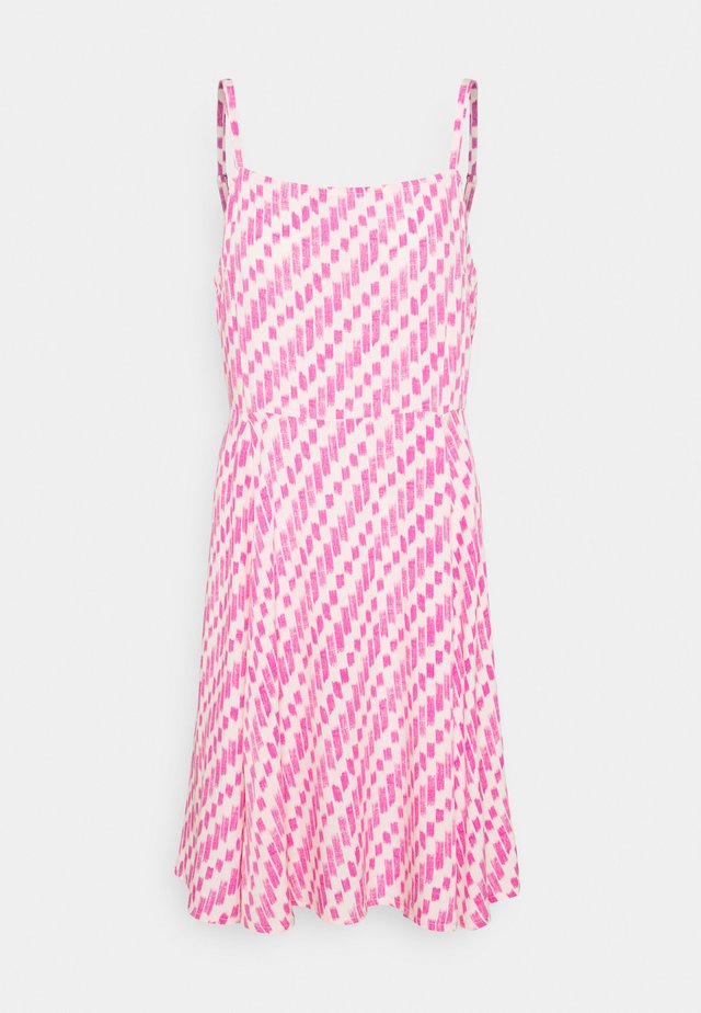 CAMI DRESS - Denim dress - pop peach