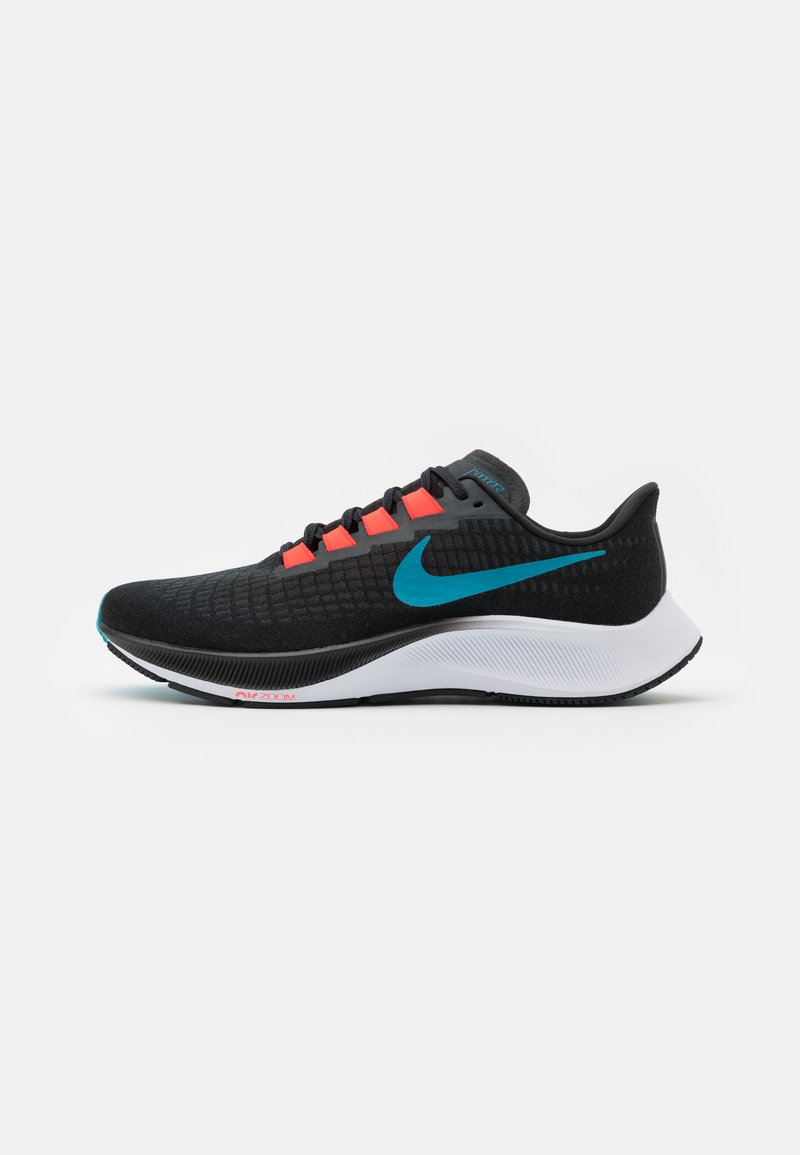 Nike Performance - AIR ZOOM PEGASUS 37 - Zapatillas de running neutras - off noir/light blue fury/bright crimson