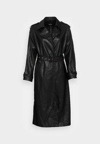ONLNICOLE FAUX LEATHER  - Classic coat - black