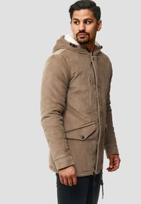 INDICODE JEANS - Winter coat - mottled dark grey - 3