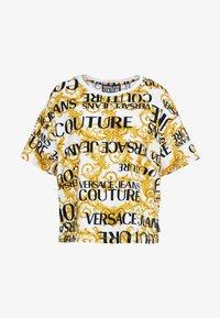 Versace Jeans Couture - Print T-shirt - bianco ottico - 4