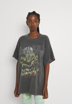 DEATH VALLEY DAD TEE - Print T-shirt - charcoal