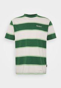 Kickers Classics - HORIZONAL STRIPE TEE - T-shirt z nadrukiem - beige/green - 3