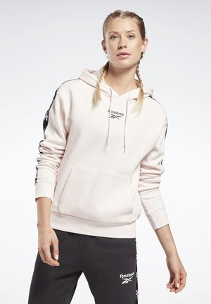 TRAINING ESSENTIALS TAPE PACK HOODIE - Jersey con capucha - pink