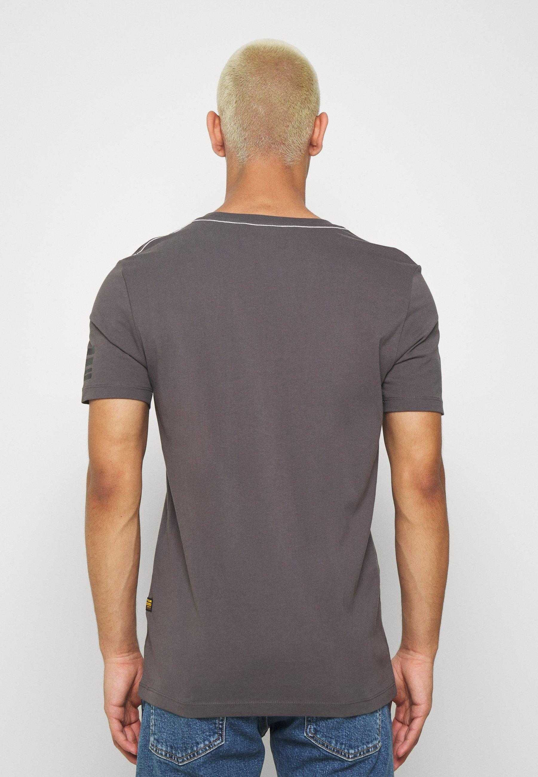 G-Star TEXT GR SLIM R T S\S - Print T-shirt - shadow Rk8EP