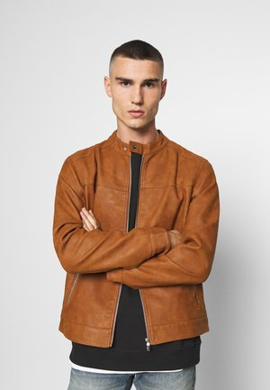 ONSJASPER - Faux leather jacket - monks robe