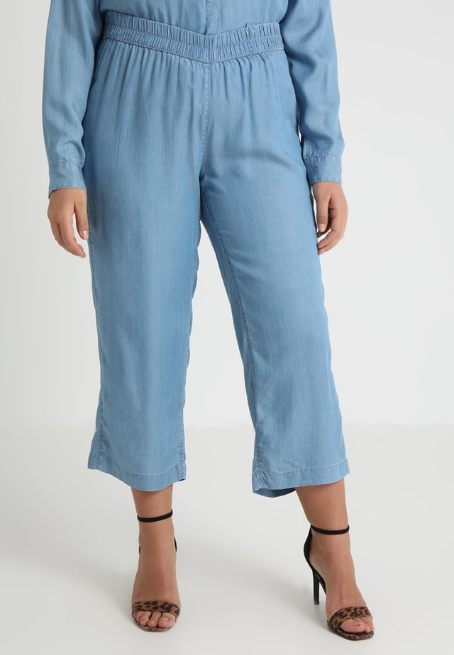 CROP TROUSER - Bukse - blue spring
