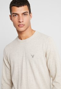 American Eagle - CREW - Pullover - oatmeal heather - 4
