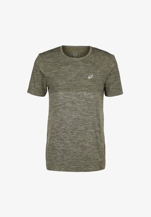 RACE SEAMLESS - Print T-shirt - smog green