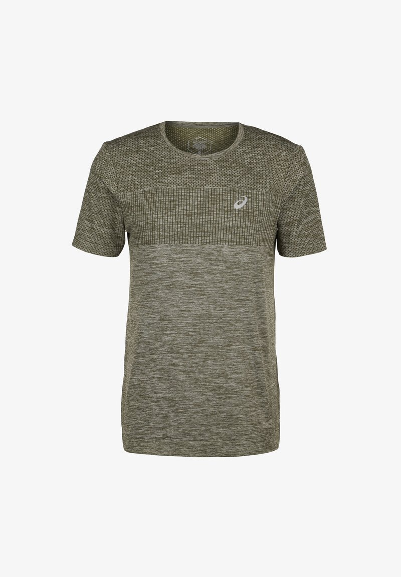 ASICS - RACE SEAMLESS - Print T-shirt - smog green