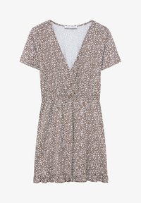PULL&BEAR - MIT VOLANTS UND PRINT - Day dress - mottled light brown - 5