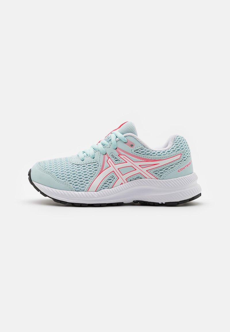 ASICS - CONTEND 7 UNISEX - Neutral running shoes - aqua/white
