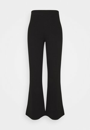 FLARE TROUSERS - Broek - black