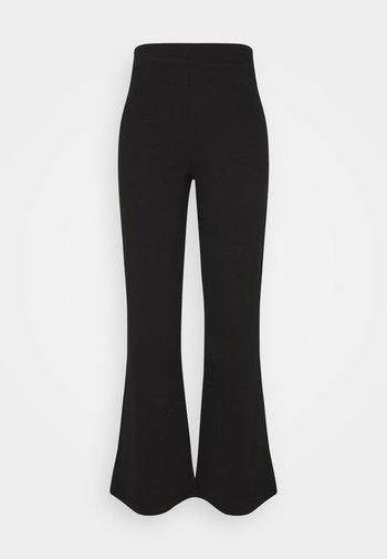 FLARE TROUSERS - Pantaloni - black
