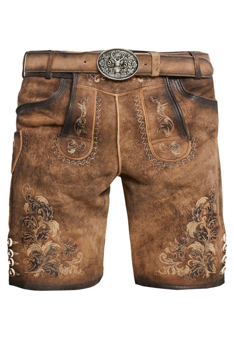 Krüger Dirndl - Kožené kalhoty - light brown