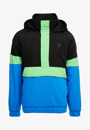 TONE MIX PULL OVER  - Light jacket - black/cobaltblue/neongreen