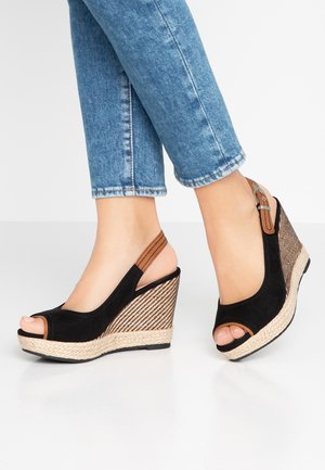 SWAN - High heeled sandals - black