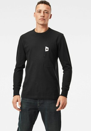 UTILITY POCKET LOGO LONG SLEEVE - Longsleeve - dk black