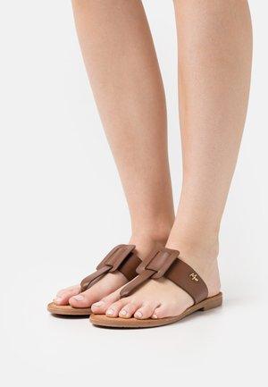 GAVIA - T-bar sandals - tan