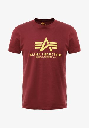 BASIC - Print T-shirt - burgundy