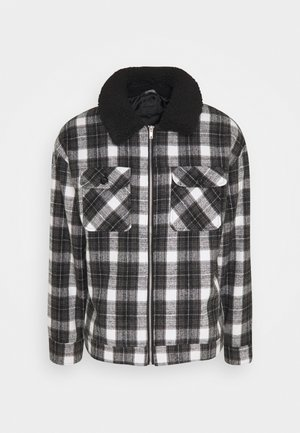 CHECK COLLAR WESTERN - Tunn jacka - black