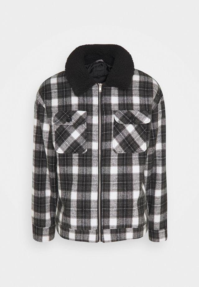 CHECK COLLAR WESTERN - Summer jacket - black
