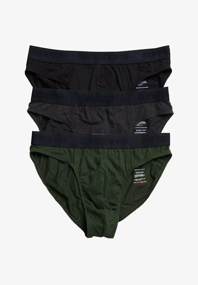 Superdry - TRIPLE PACK - Briefs - khaki