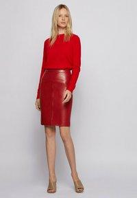 BOSS - Pencil skirt - dark red - 1