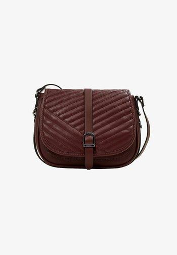 Across body bag - bordeaux red
